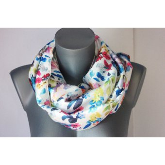 Snood imprimé liberty multicolore