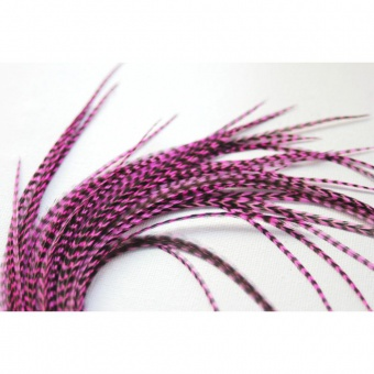 Extension Plume de cheveux rose fushia grizzly