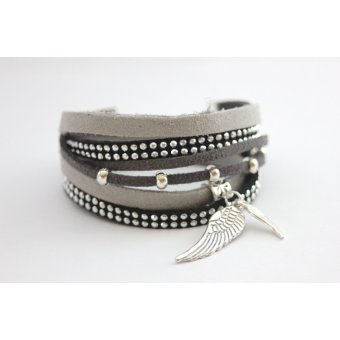 Bracelet Wrap DARK GREY