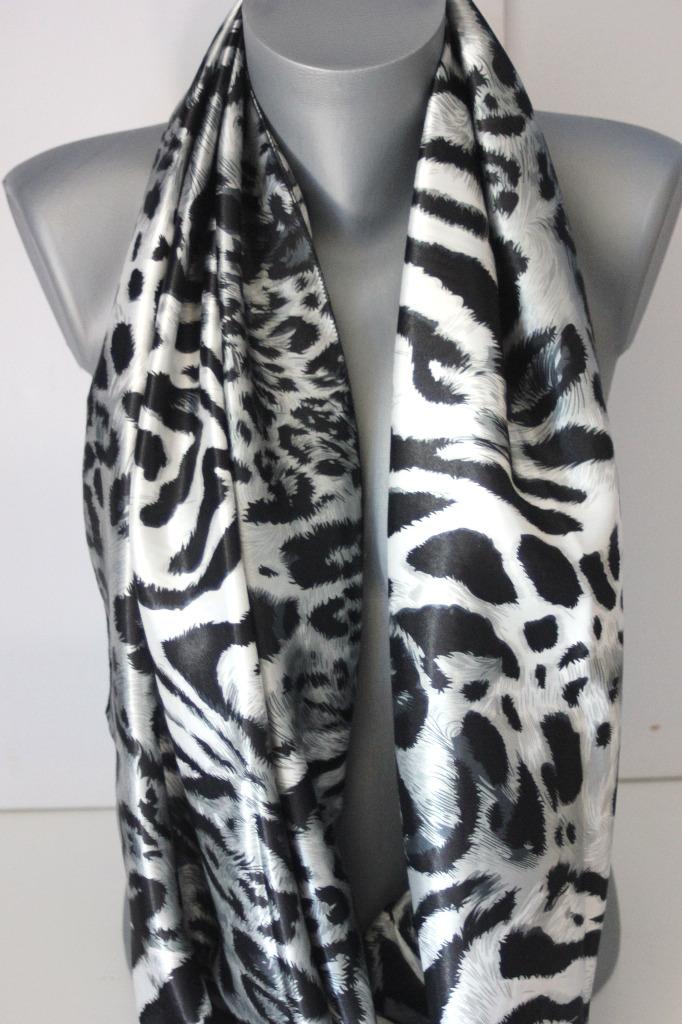 Foulard snood imprimé léopard noir et gris - emmafashionstyle.fr d4d43e68c14