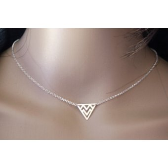 Collier triangle ethnique en argent by EmmaFashionStyle