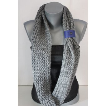 snood tricoté laine grise by EmmaFashionStyle