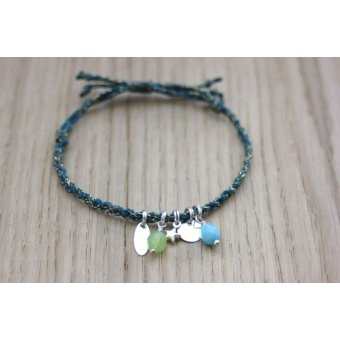 bracelet friendship bleu et argent by EmmaFashionStyle