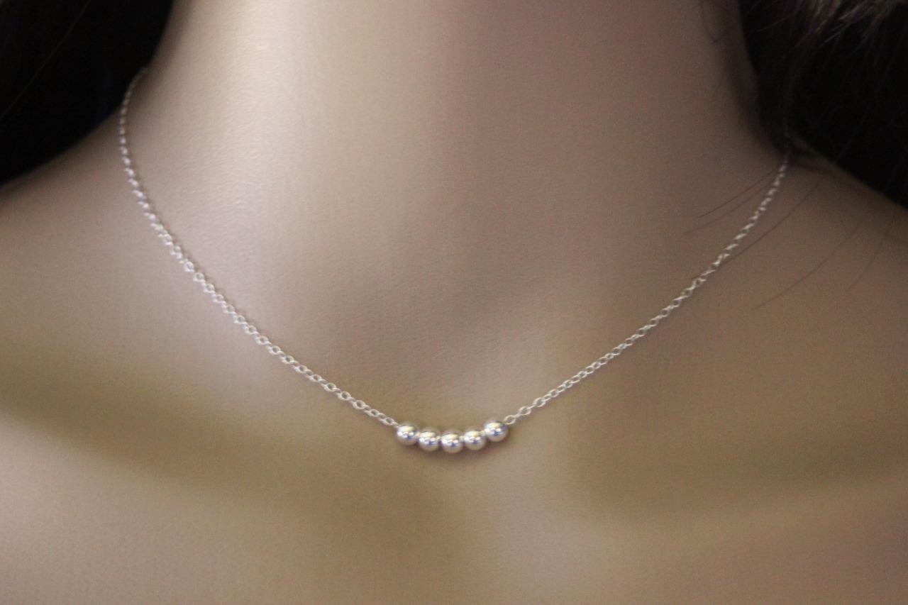 collier argent femme minimaliste