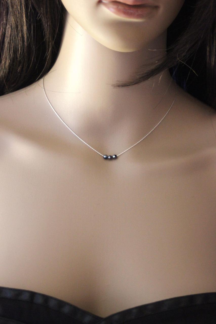 collier perle noire swarovski