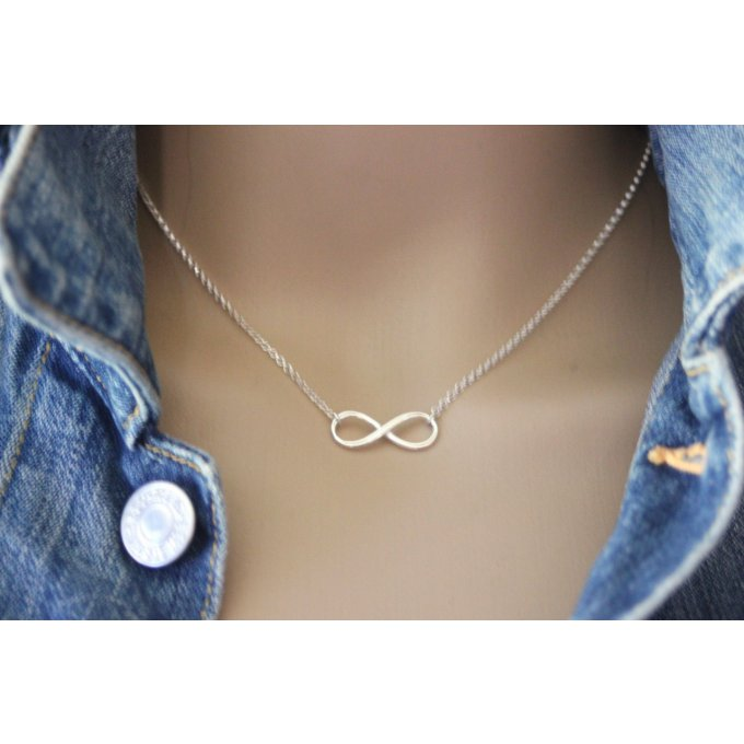 Collier infini argent massif by EmmaFashionStyle