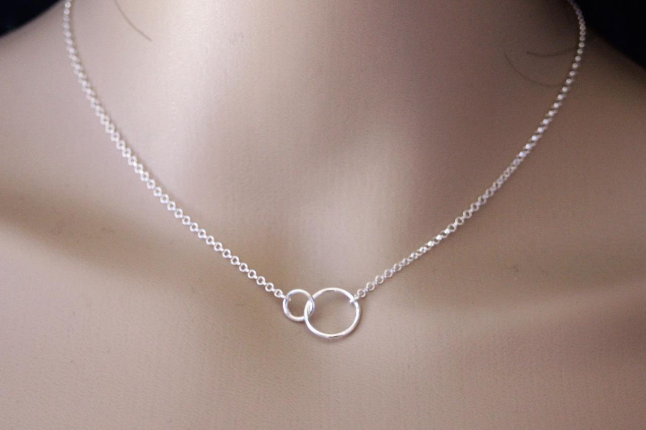 collier femme argent anneau