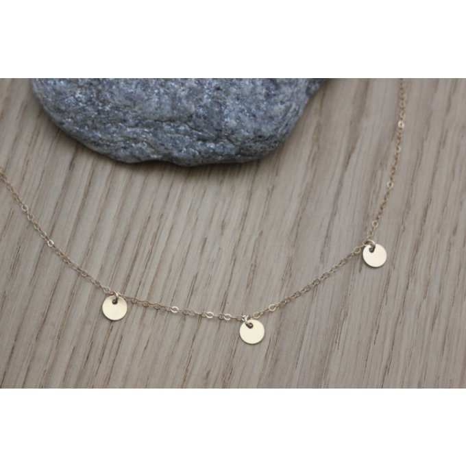 collier breloques en or