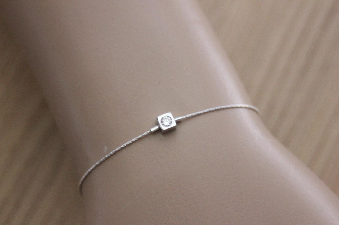bracelet argent zirconium