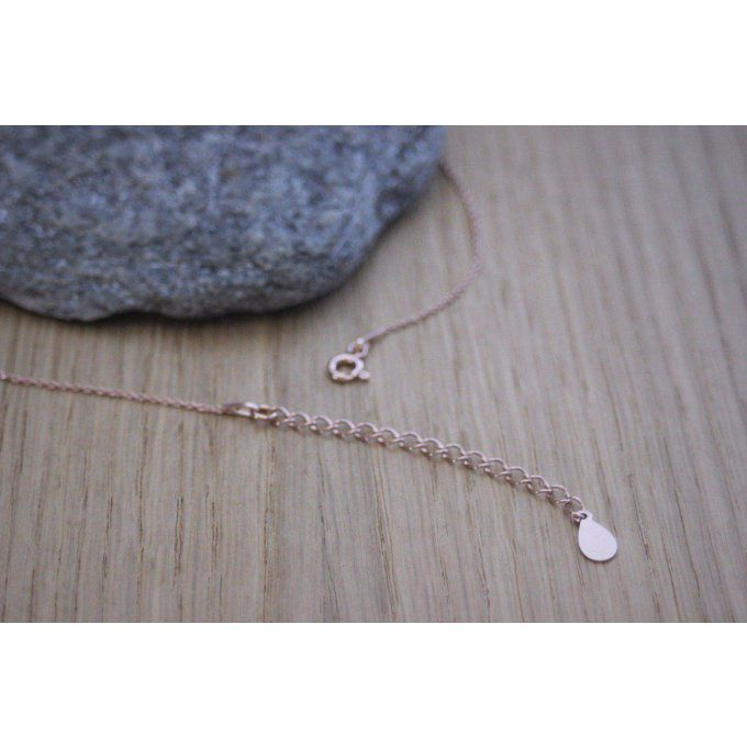 Collier étoile en or rose