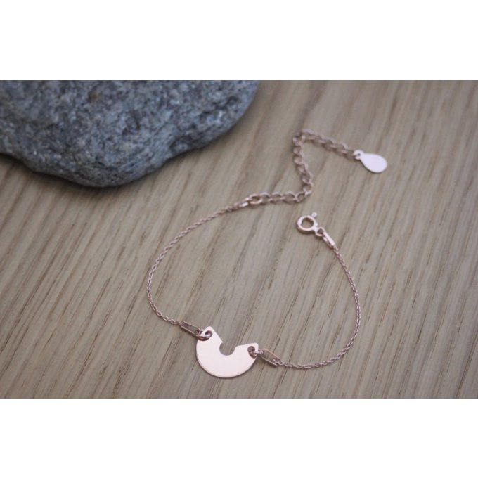 Bracelet or rose demi cercle