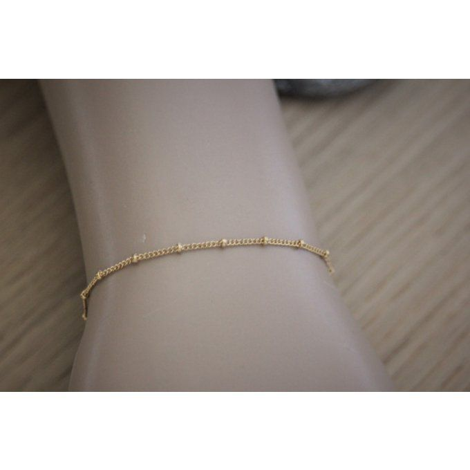 Bracelet en or Gold Filled chaine perlée