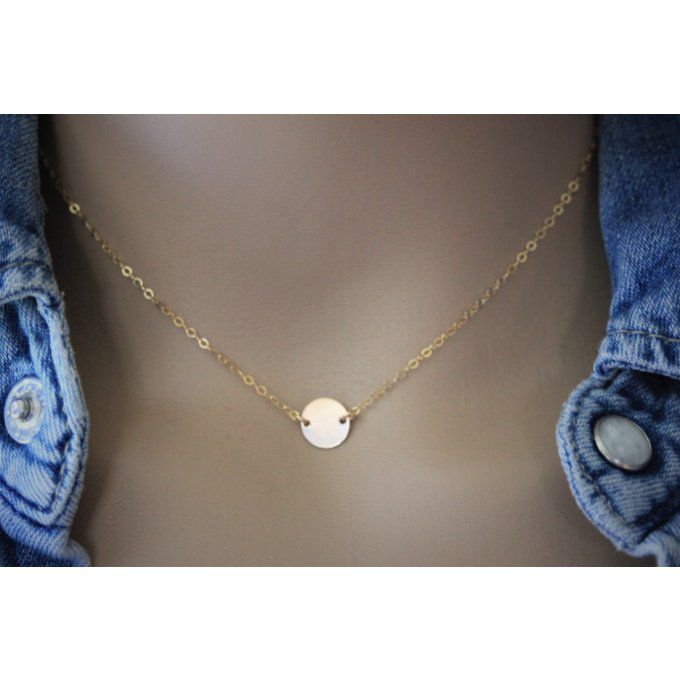 Collier petite médaille en or Gold Filled