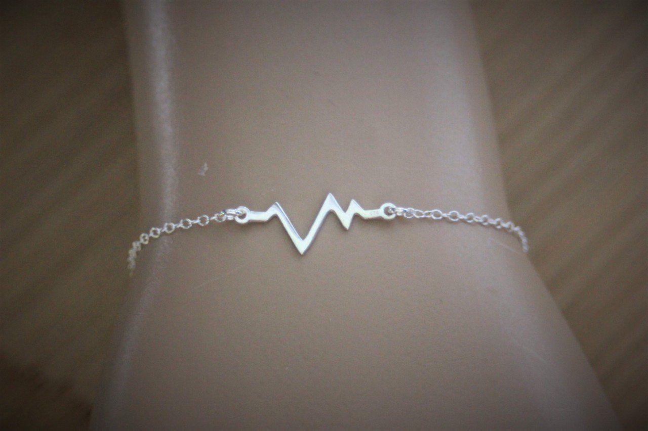 bijoux rythme cardiaque argent