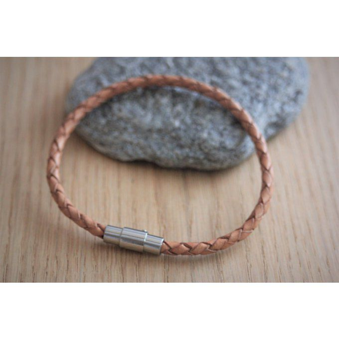 bracelet cuir homme 19 cm
