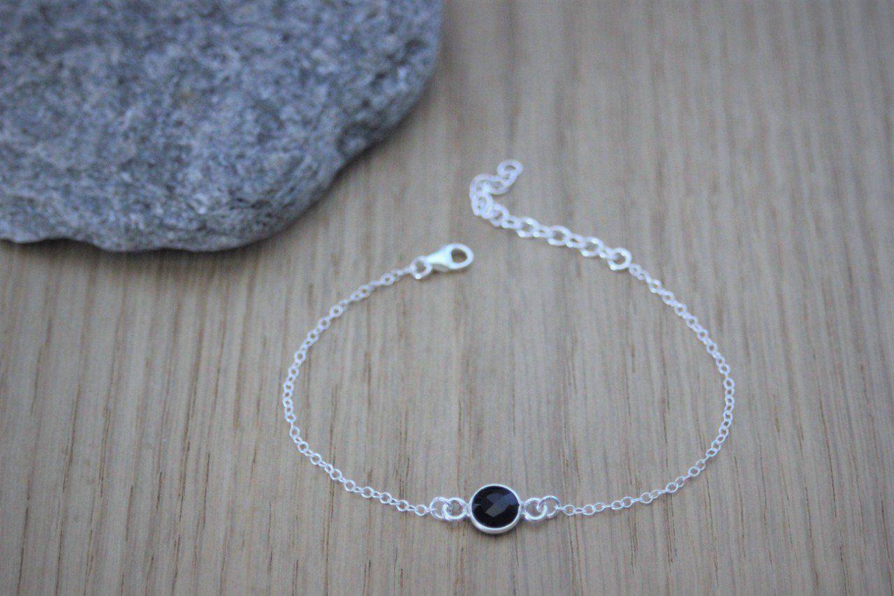 bracelet argent et pierre