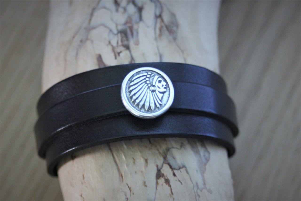 bracelet cuir indien